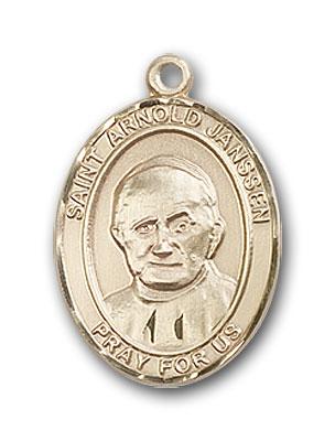 Gold-Filled St. Arnold Janssen Pendant