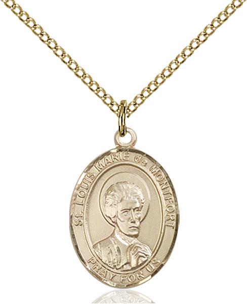 Gold-Filled St. Louis Marie De Montfort Pendant