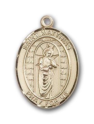 14K Gold St. Matthias the Apostle Pendant