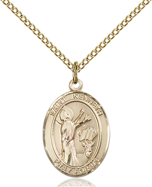 Gold-Filled St. Kenneth Pendant
