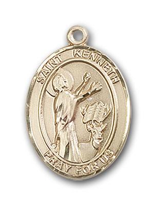 14K Gold St. Kenneth Pendant