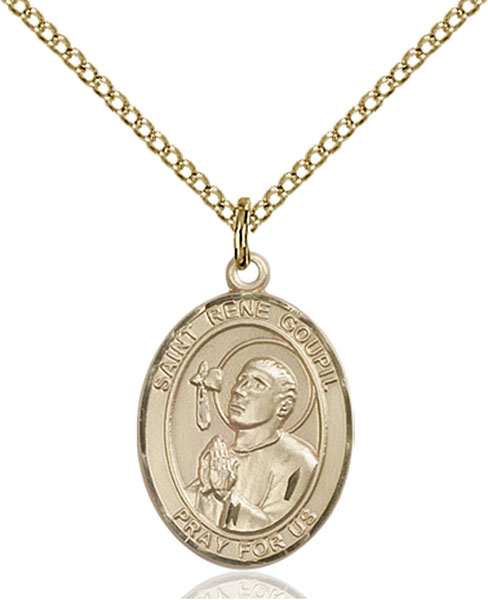 Gold-Filled St. Rene Goupil Pendant