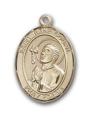 14K Gold St. Rene Goupil Pendant