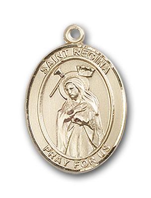 14K Gold St. Regina Pendant