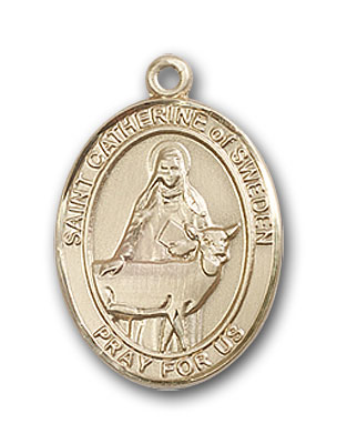 Gold-Filled St. Catherine of Sweden Pendant