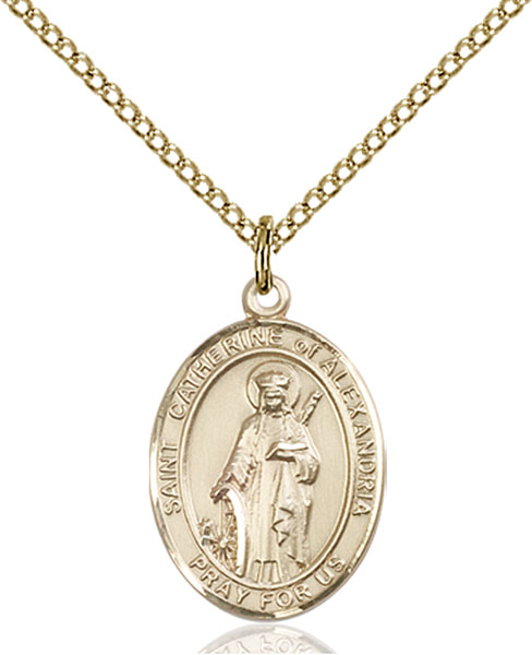 Gold-Filled St. Catherine of Alexandria Pendant