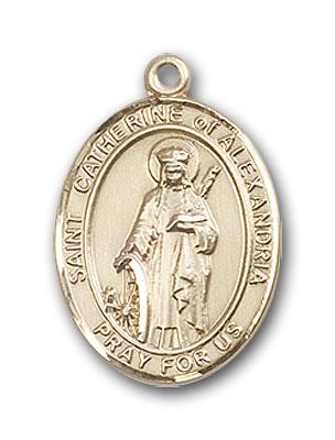 14K Gold St. Catherine of Alexandria Pendant