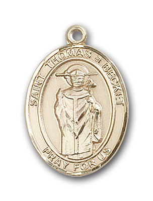 14K Gold St. Thomas A Becket Pendant