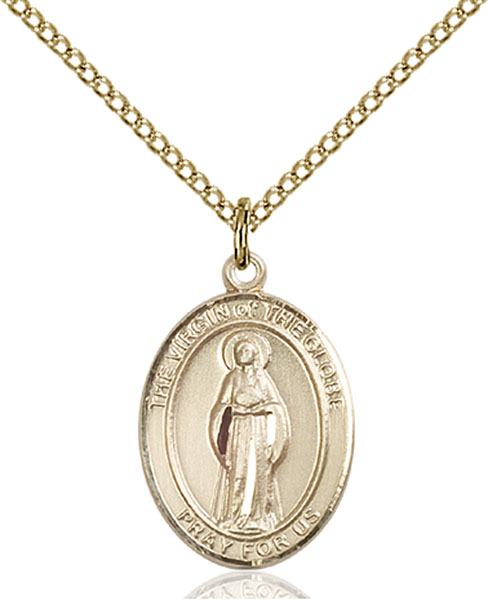 Gold-Filled Virgin of the Globe Pendant
