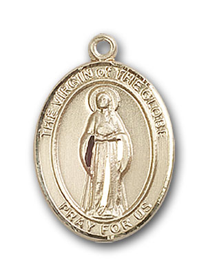 14K Gold Virgin of the Globe Pendant