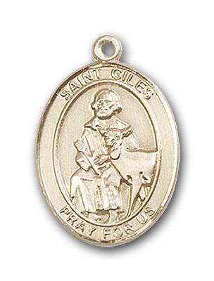 14K Gold St. Giles Pendant