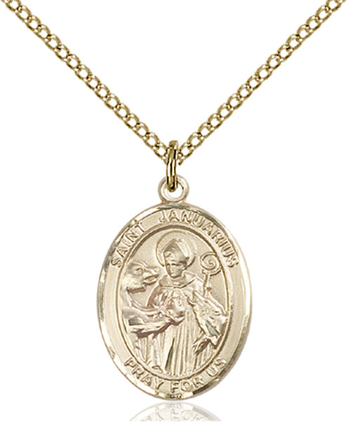 Gold-Filled St. Januarius Pendant