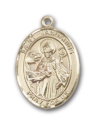 14K Gold St. Januarius Pendant