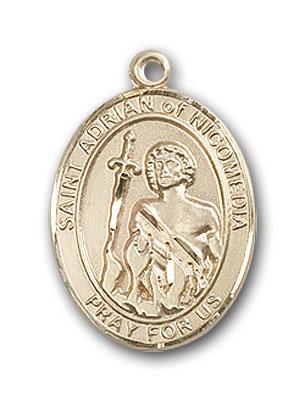 14K Gold St. Adrian of Nicomedia Pendant