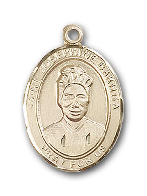 14K Gold St. Josephine Bakhita Pendant