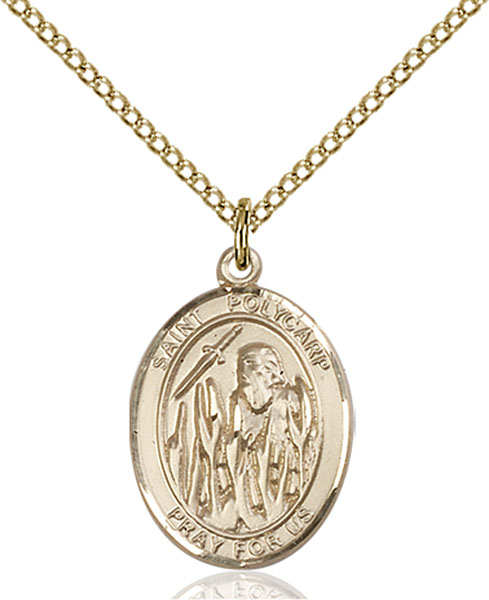 Gold-Filled St. Polycarp of Smyrna Pendant