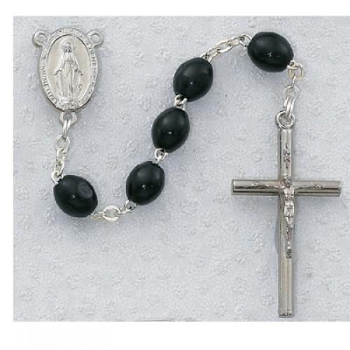 3X5MM Black Wood Rosary