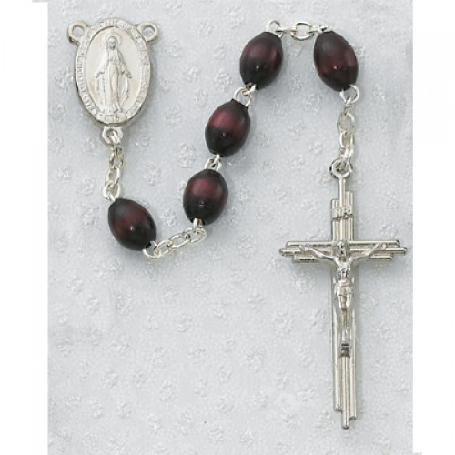 3X5MM Brown Wood Rosary