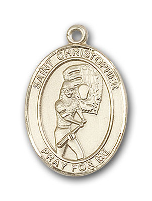 Gold-Filled St. Christopher Softball Pendant
