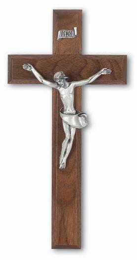 "10"" Walnut Cross With Silver Corpus"