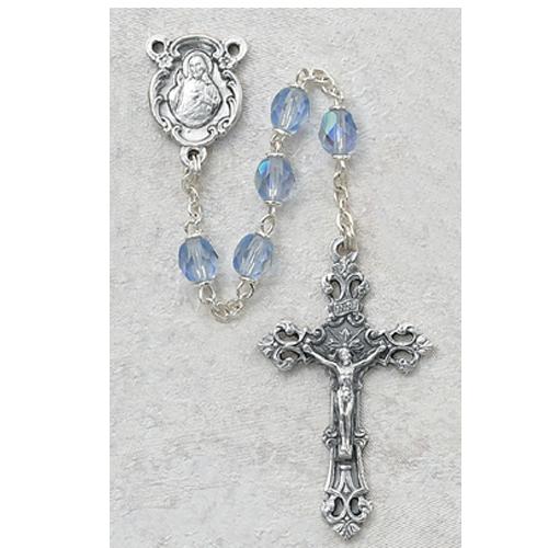 6MM AB Blue/September Rosary