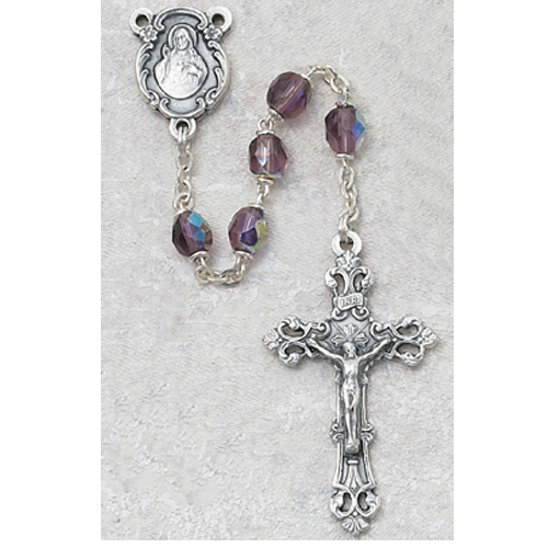 6MM AB Dark Amethyst/February Rosary
