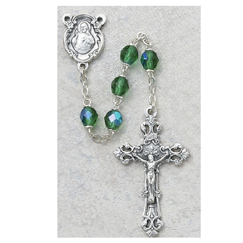 6MM AB Peridot/August Rosary