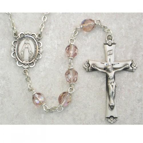 Sterling Silver 6MM Amethyst/June Rosary