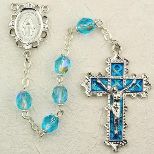 6MM Aqua Rosary