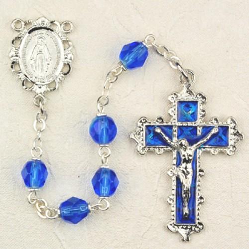 6MM Dark Blue Rosary