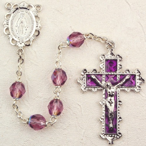 6MM Dark Amethyst Rosary