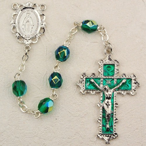 6MM Emerald Rosary