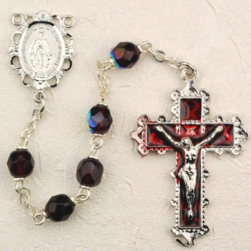 6MM Garnet Rosary