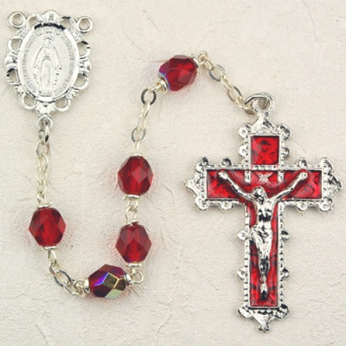 6MM Ruby Rosary