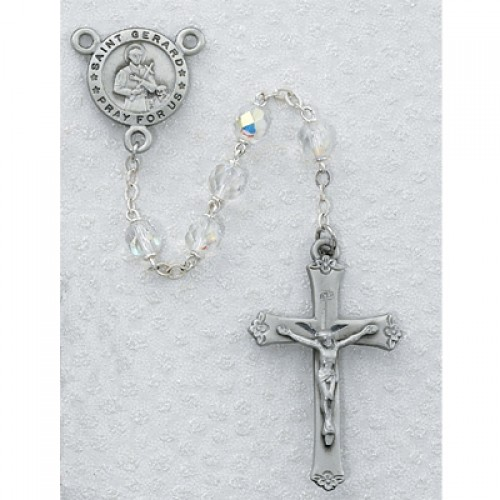 7MM Pewter St. Gerard Rosary