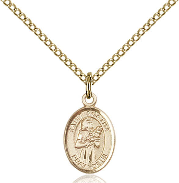 Gold-Filled St. Agatha Pendant