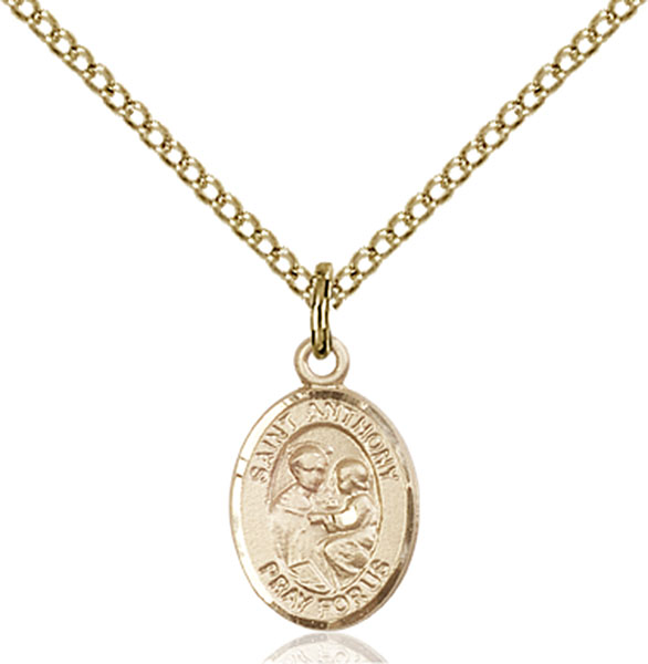 Gold-Filled St. Anthony of Padua Pendant
