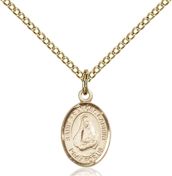 Gold-Filled St. Frances Cabrini Pendant