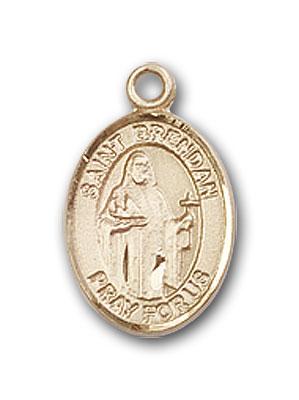 Gold-Filled St. Brendan the Navigator Pendant
