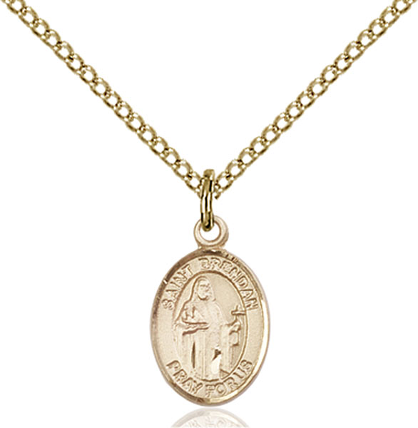 Gold-Filled St. Brendan the Navigator Pendant