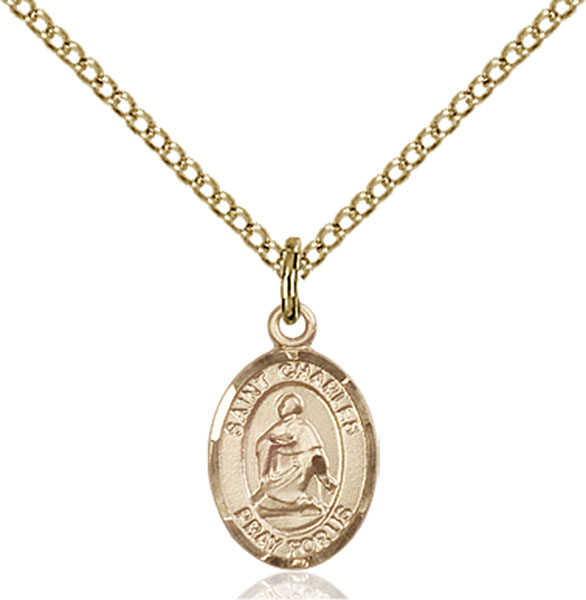 Gold-Filled St. Charles Borromeo Pendant
