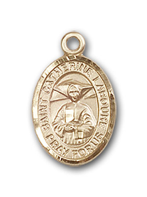 14K Gold St. Catherine Laboure Pendant