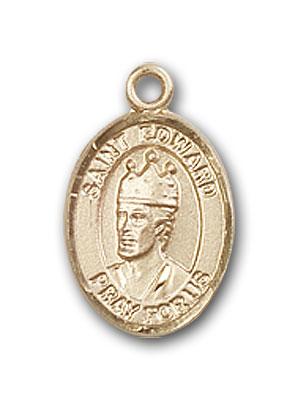 14K Gold St. Edward the Confessor Pendant