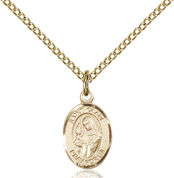 Gold-Filled St. Clare of Assisi Pendant