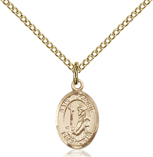 Gold-Filled St. Dominic de Guzman Pendant