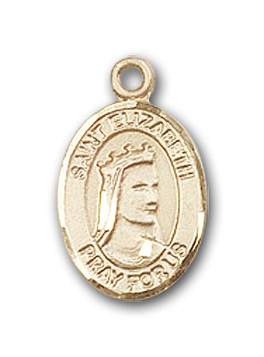 14K Gold St. Elizabeth of Hungary Pendant