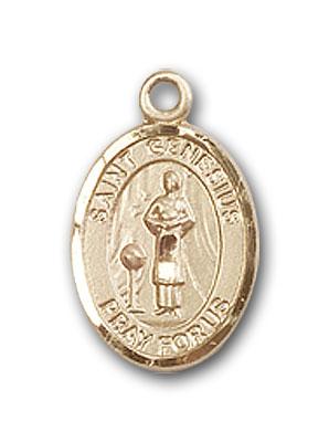 14K Gold St. Genesius of Rome Pendant