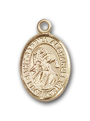 14K Gold St. Gabriel the Archangel Pendant