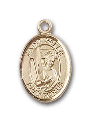 14K Gold St. Helen Pendant