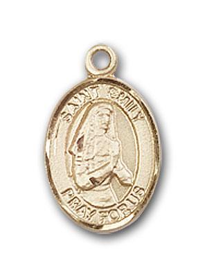 14K Gold St. Emily de Vialar Pendant